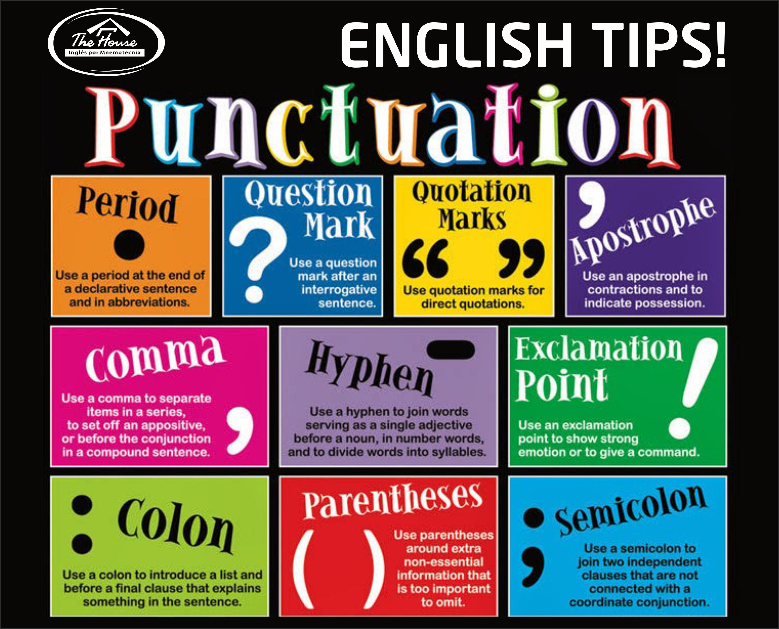 Punctuation In English Language Punctuation Tips