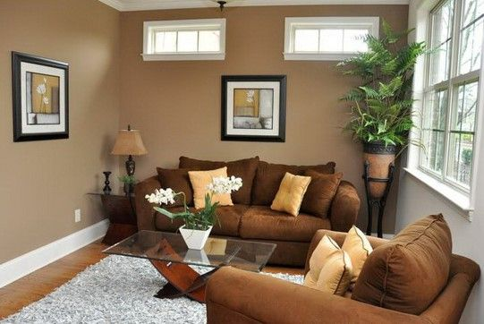 Wall Colors For Small Rooms To Make It Spacious : Brown