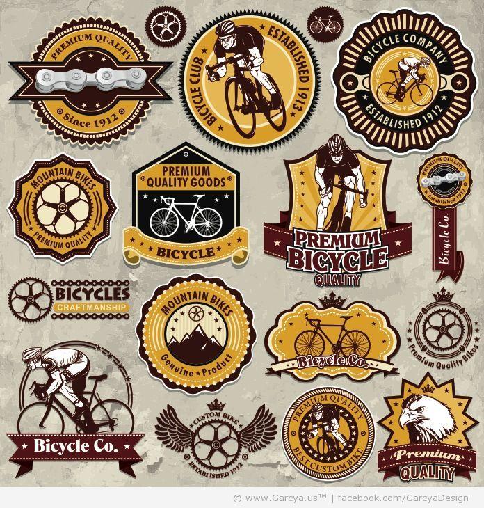 vintage design logo Vintage Bicycles Logos and Labels