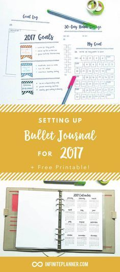 Bullet Journal New Year 2017. How to set up your bullet journal for goal tracking