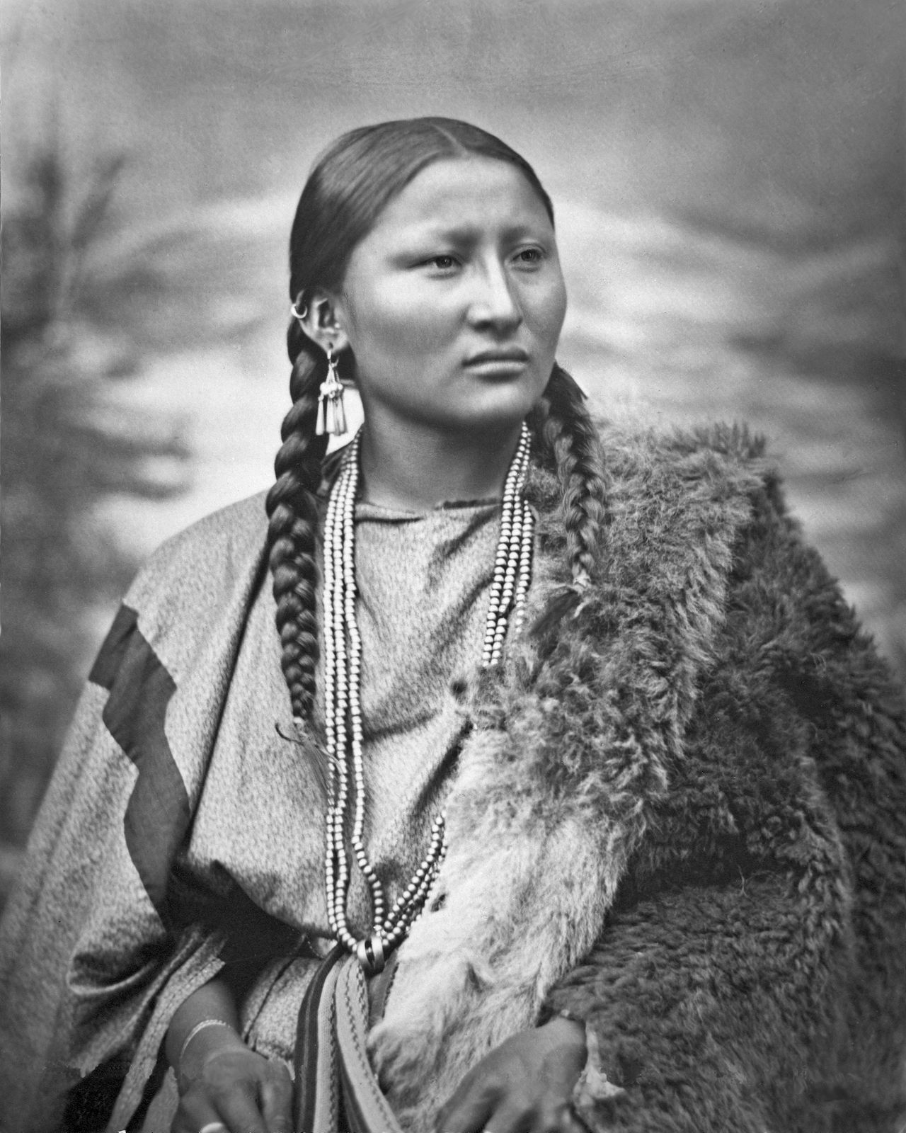 Cheyenne Woman Pretty Nose Restored