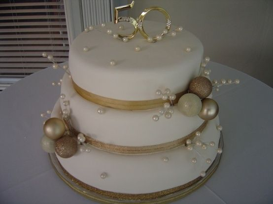 Best 25 Golden Anniversary Cake Ideas On Pinterest 50th