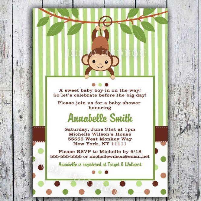 free monkey baby shower invitations printable, Baby shower invitations