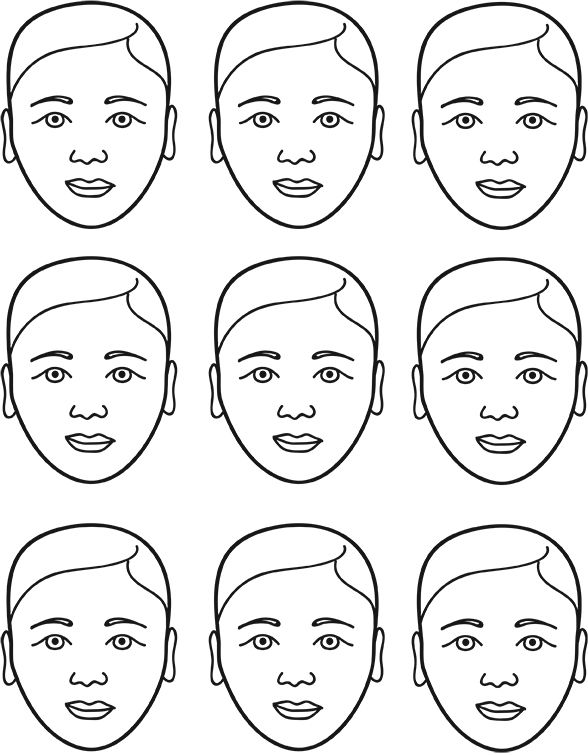 Face Painting Template. face template for you to print out to ...