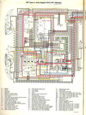 1971 Bus Wiring diagram | TheGoldenBug | Stuff to Try