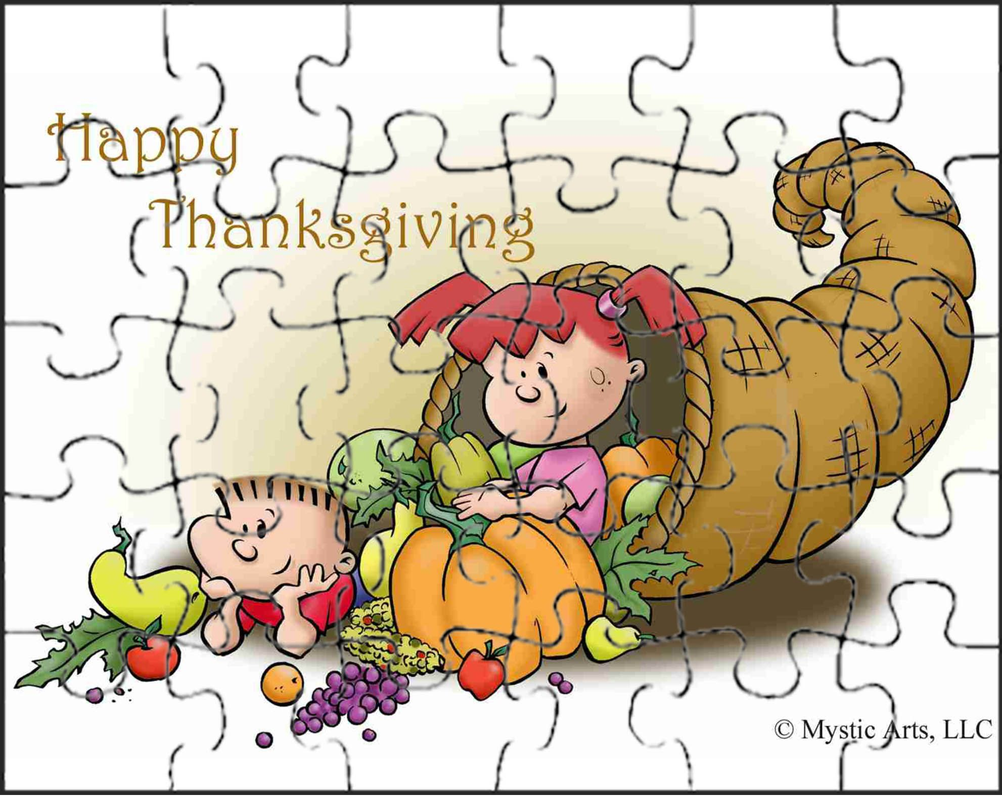 Thanksgiving Cornucopia Puzzle And Other Fun Activities