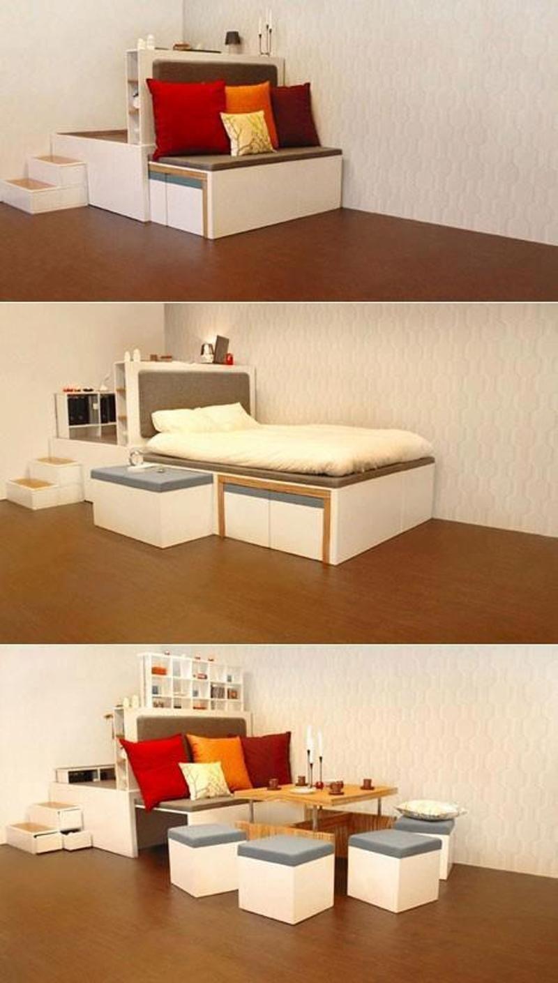Multipurpose Sofa Cum Bed Small Spaces Pinterest