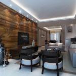 Solid Wood Tv Wall Design Living Room Hidden Ceiling Lamps