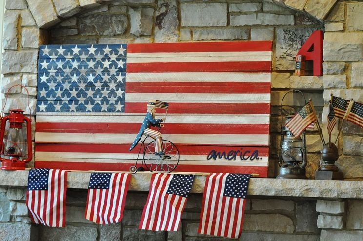 Hand Painted Fence Board American Flag Submitted By