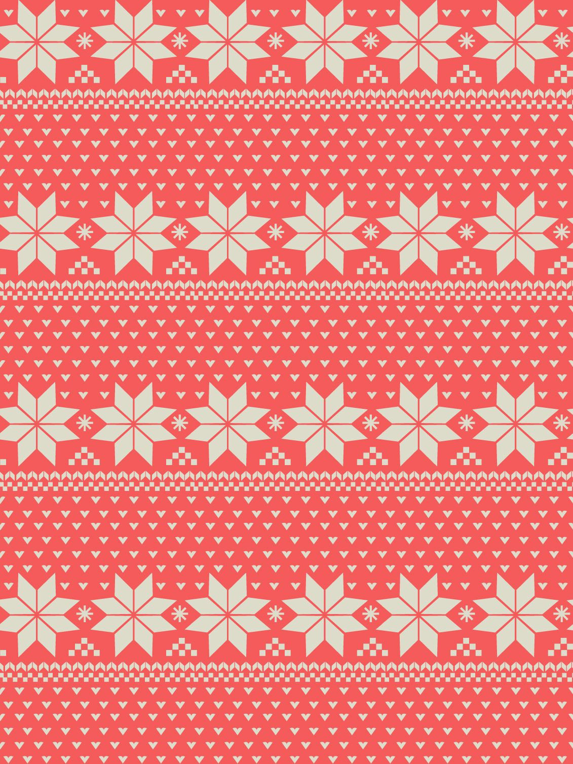 Printable Nordic Print Pattern Holiday Wrapping Paper