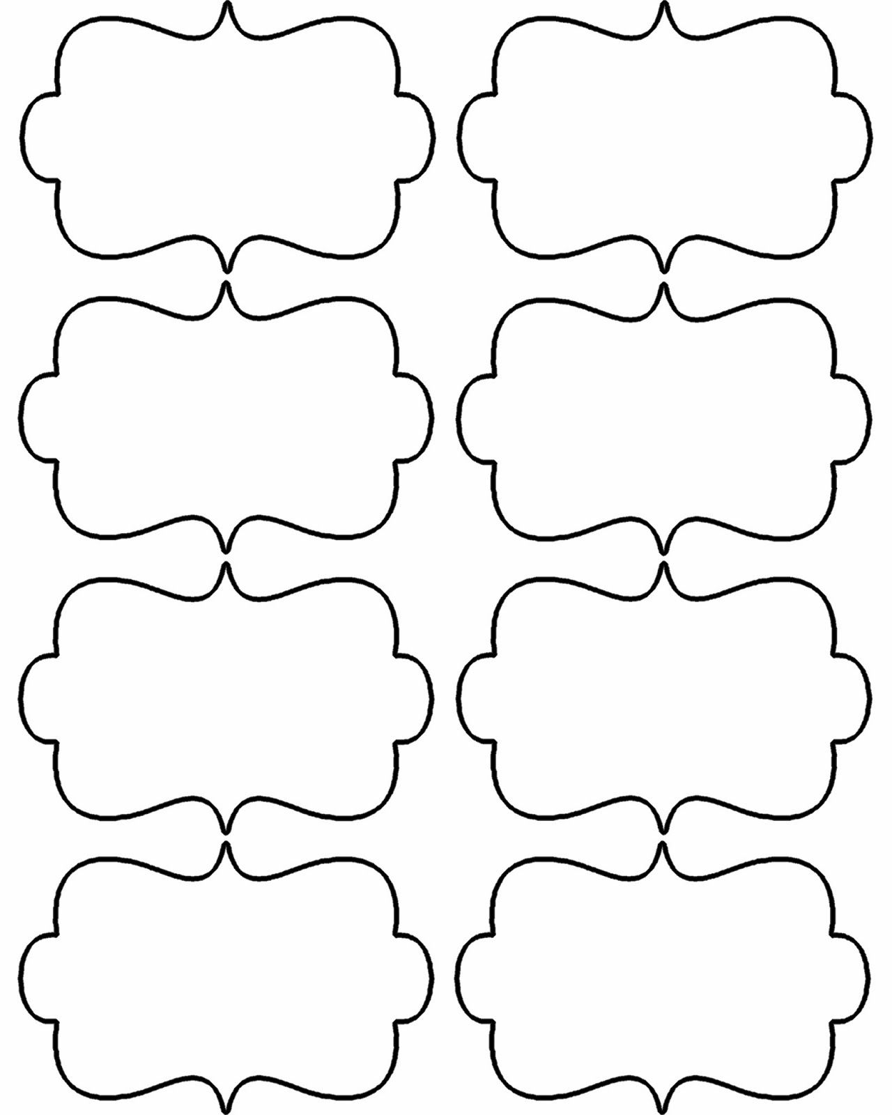 Blank Christmas Shapes Templates