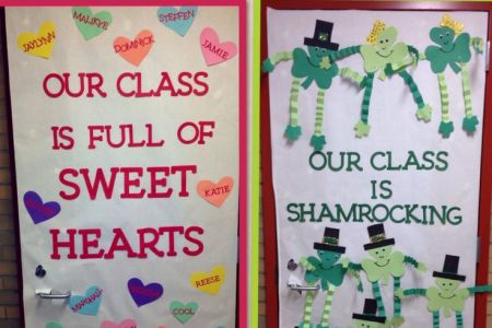 Classroom Decoration Ideas For Teachers Day   valoblogi com Classroom door ideas for valentines day and st patricks ras such pinterest  doors saints also rh