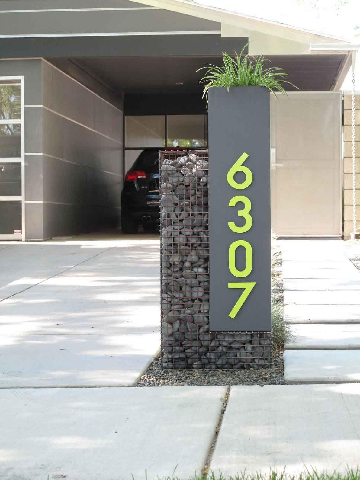 Unique Address Number Decoration garden/jardim/horta