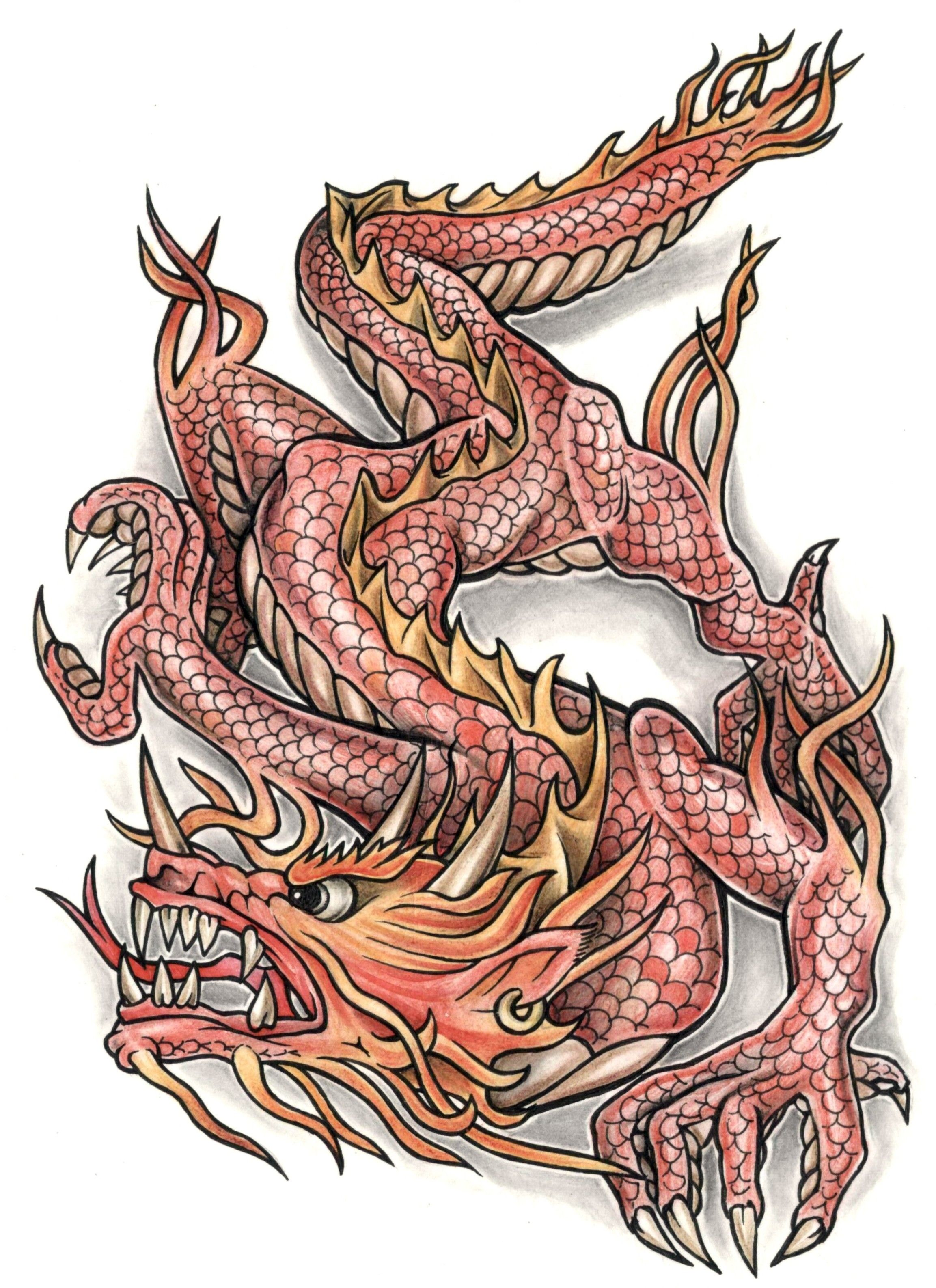 Colorful Dragon Tattoo Dragon tattoos Dragons Tattoo