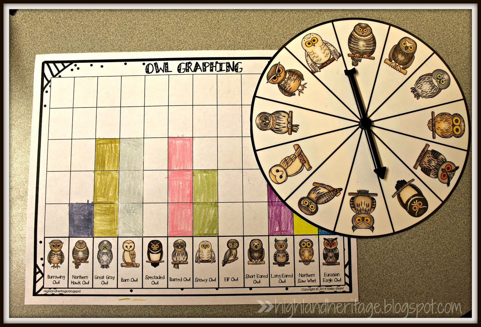 Free Packet Of Owl Math For Kinders Amp Firsties Spinner