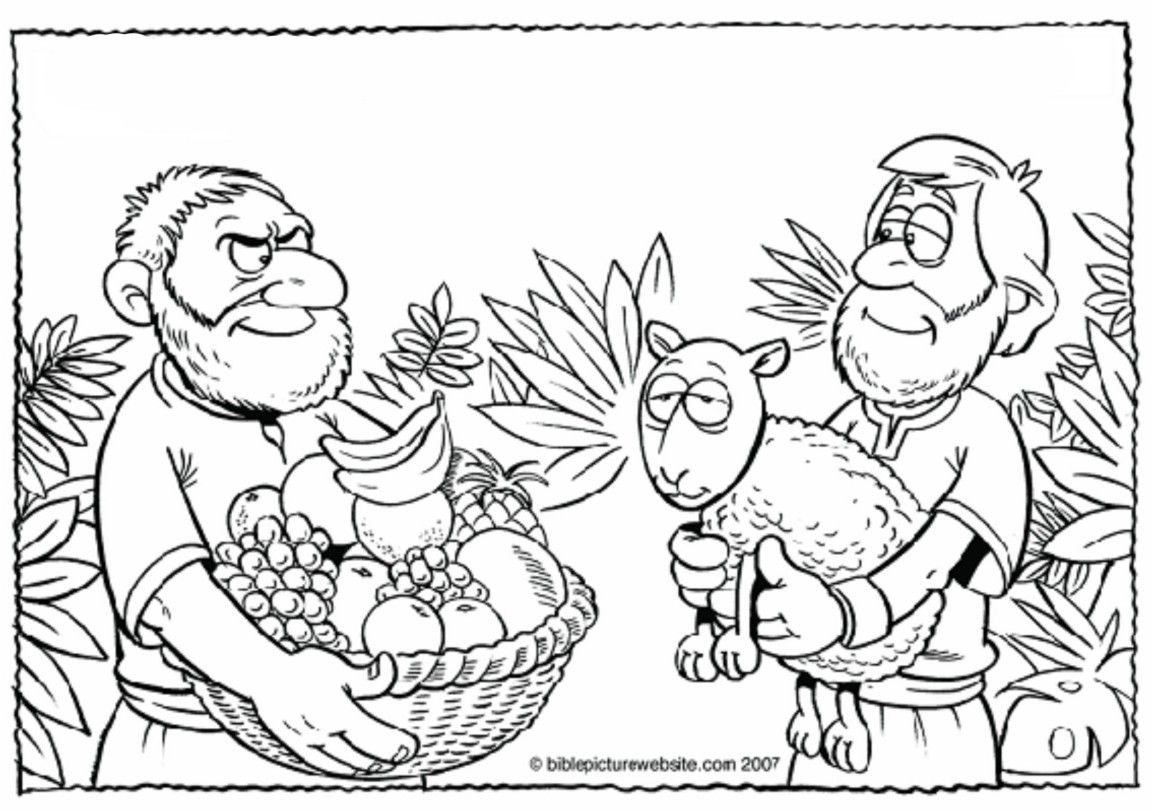 Cain And Abel Coloring Page Az Coloring Pages