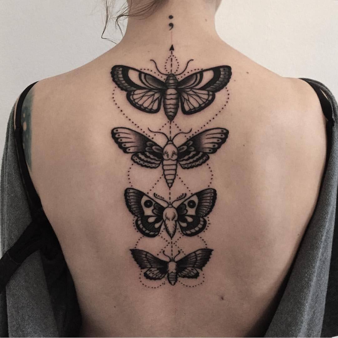Butterflies tattoos butterfly back tattoo Tattoos We