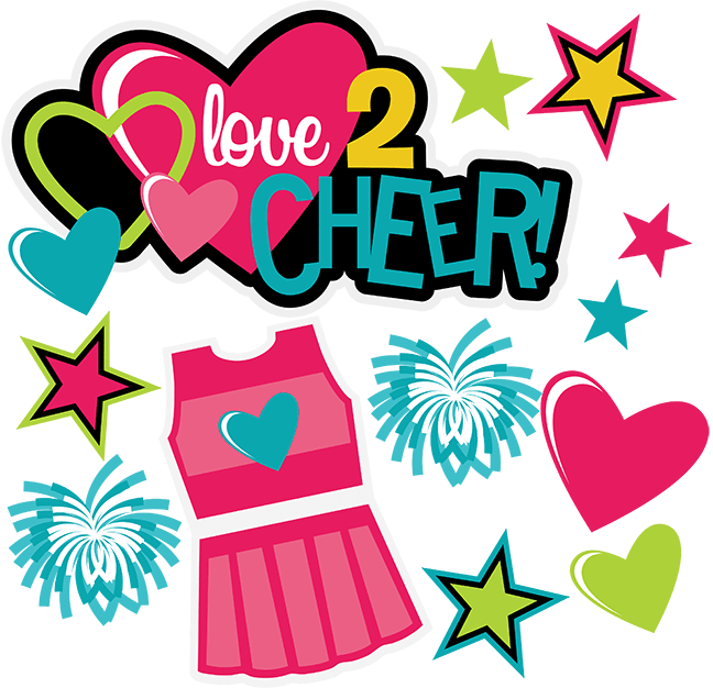 Love 2 Cheer SVG Scrapbooking File Silhouette cameo