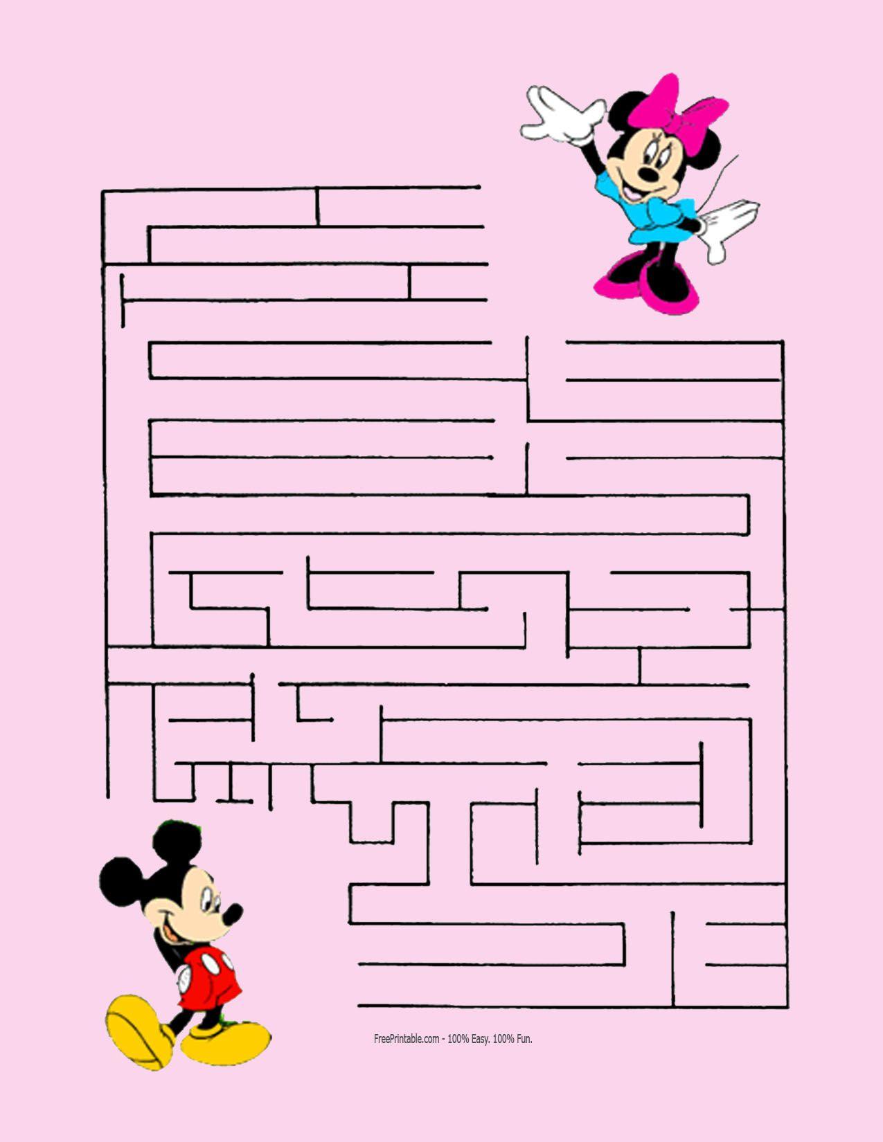 Mickey Mouse Maze Printable Print