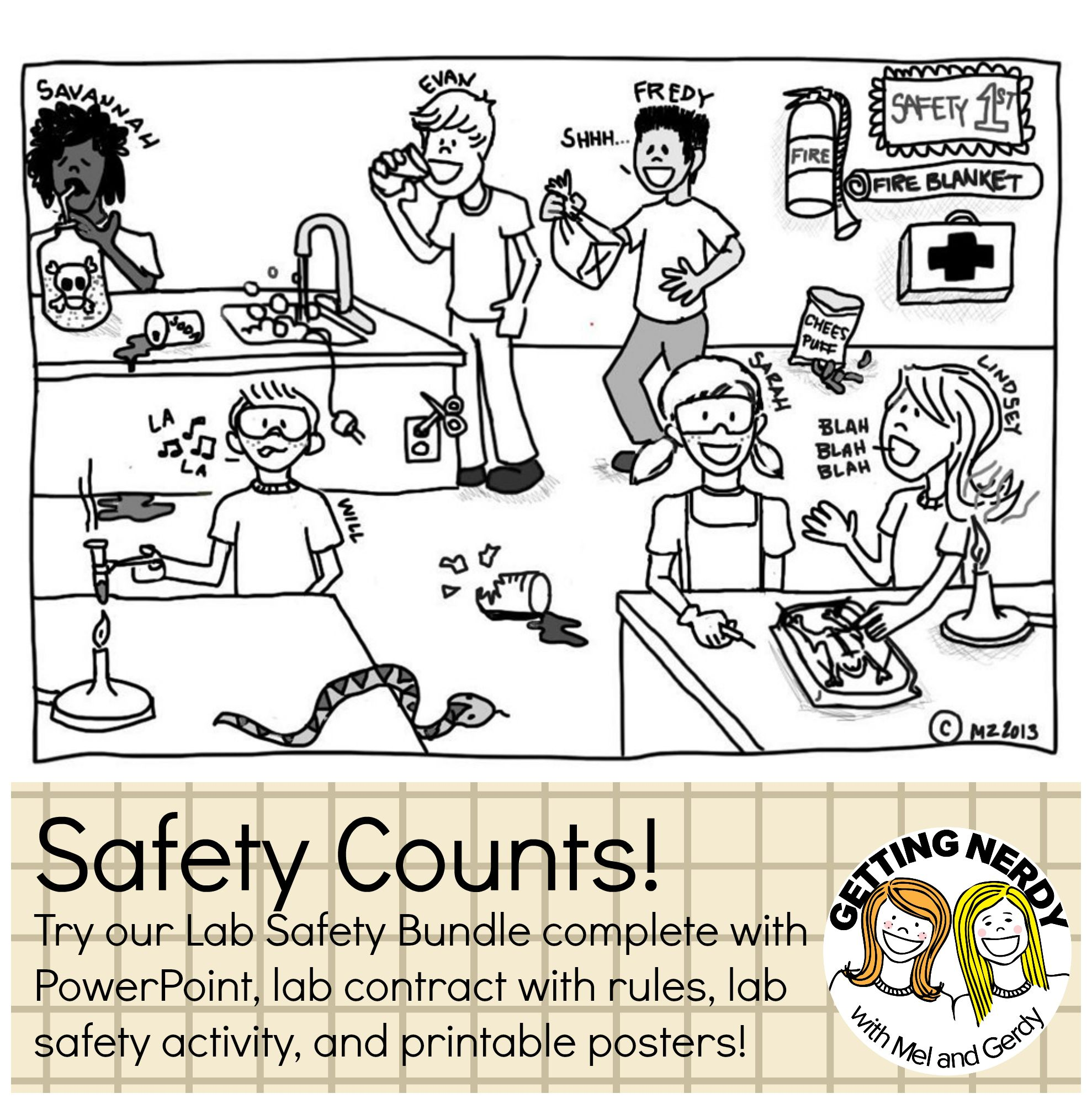 Safe Practices Science Fun Worksheet