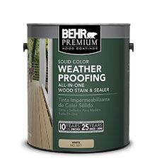 Behr Premium Solid Color Weatherproofing All In One Wood Stain Sealer
