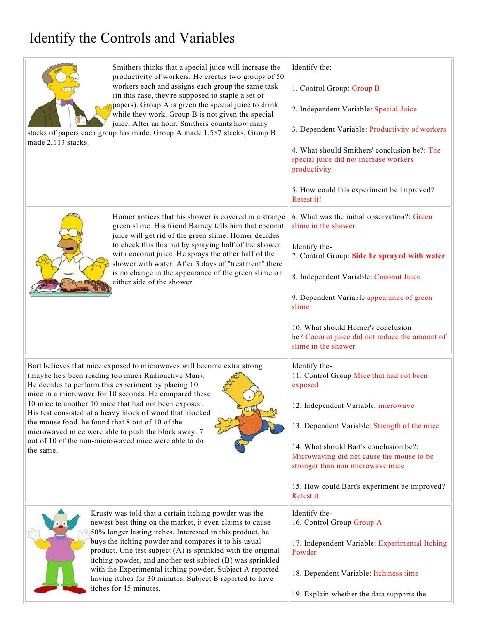 Worksheet Mythbusters Scientific Method Worksheet Grass
