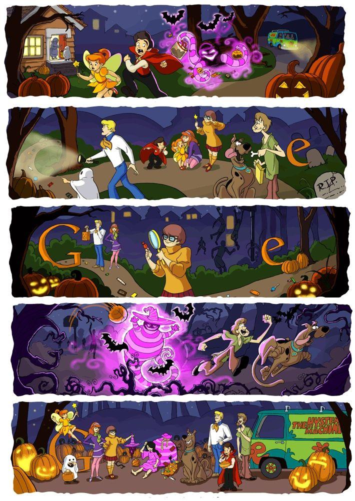 5Part Google Doodle Commemorates Halloween Scooby doo