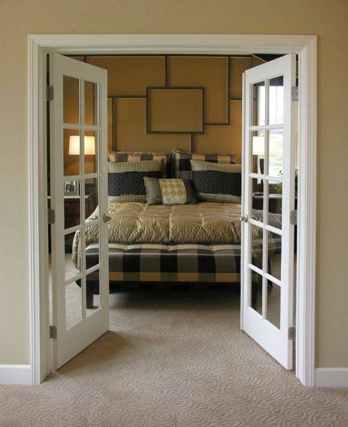 bedroom with interior french doors privacy - google search | baby