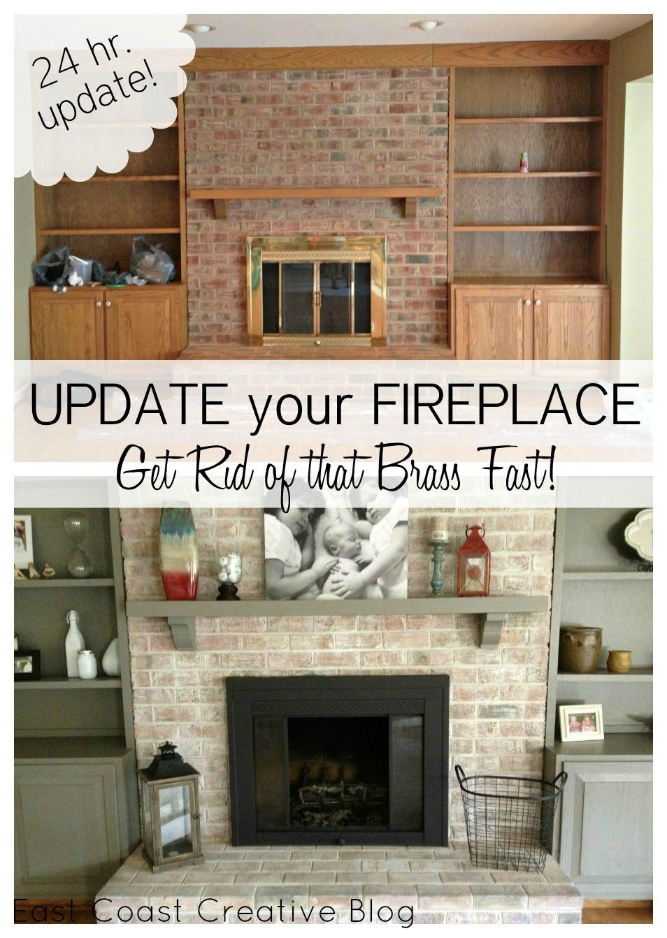 Brass Fireplace Makeover On Pinterest