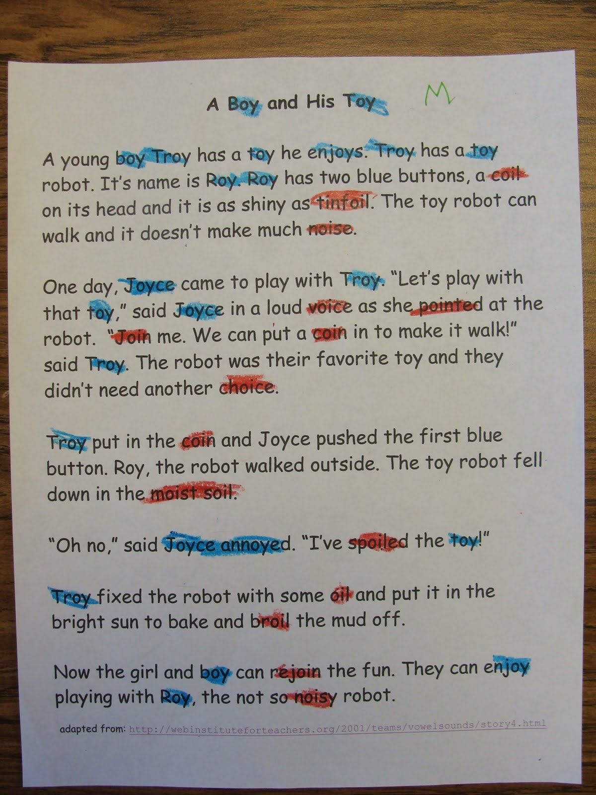 Robot Roy Story For Oy