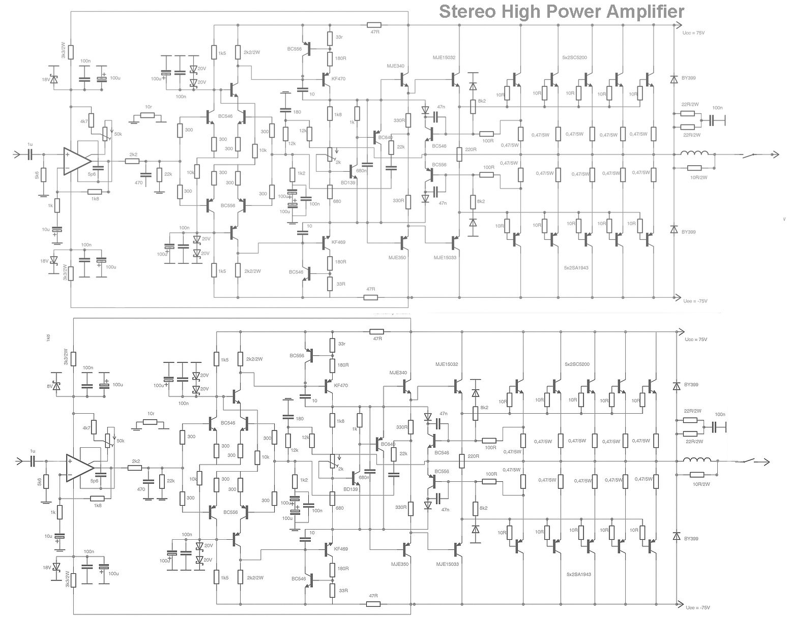 S Search Q High Power Amplifier