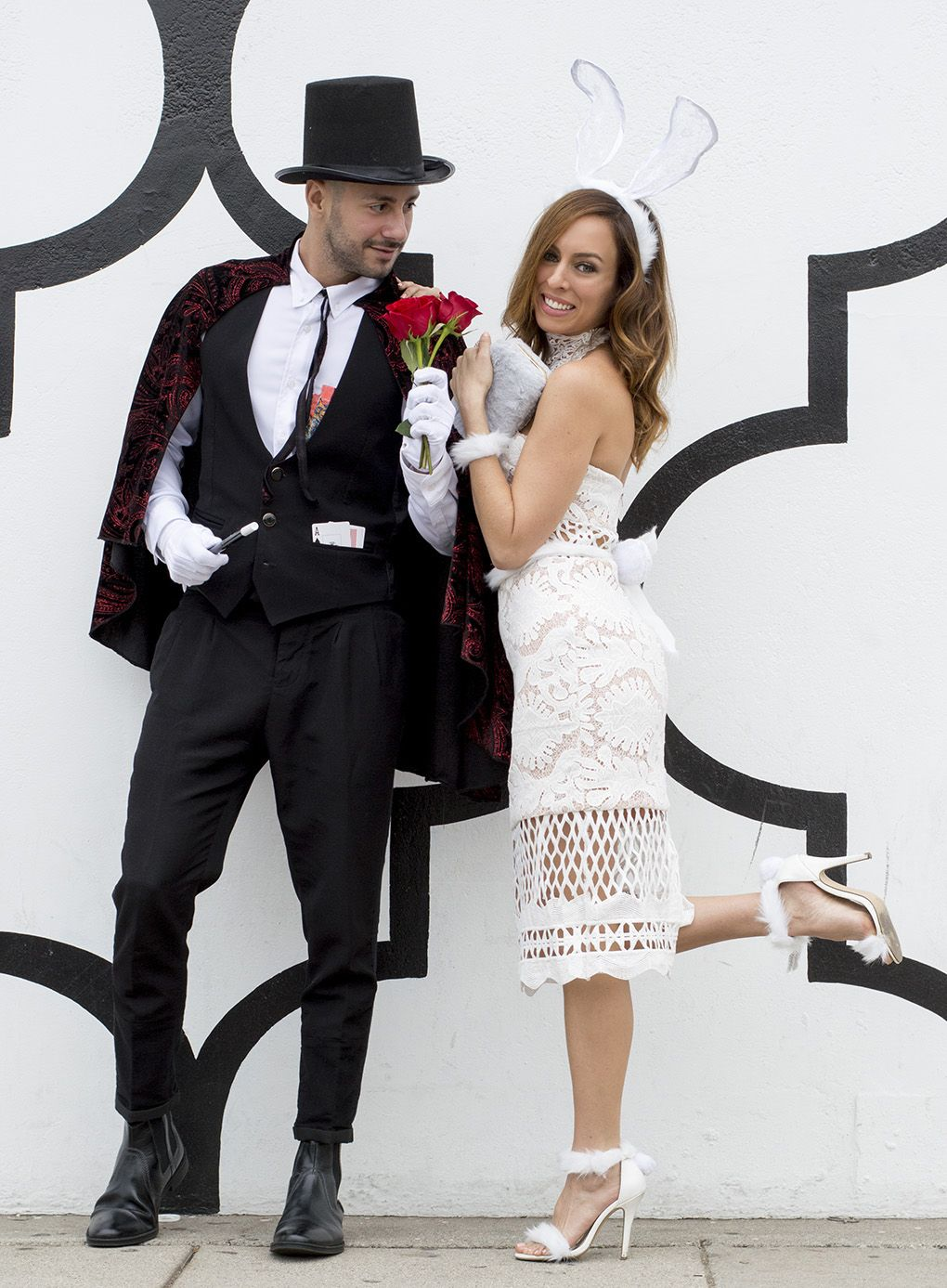 DIY Halloween classy couples costume ideas magician white