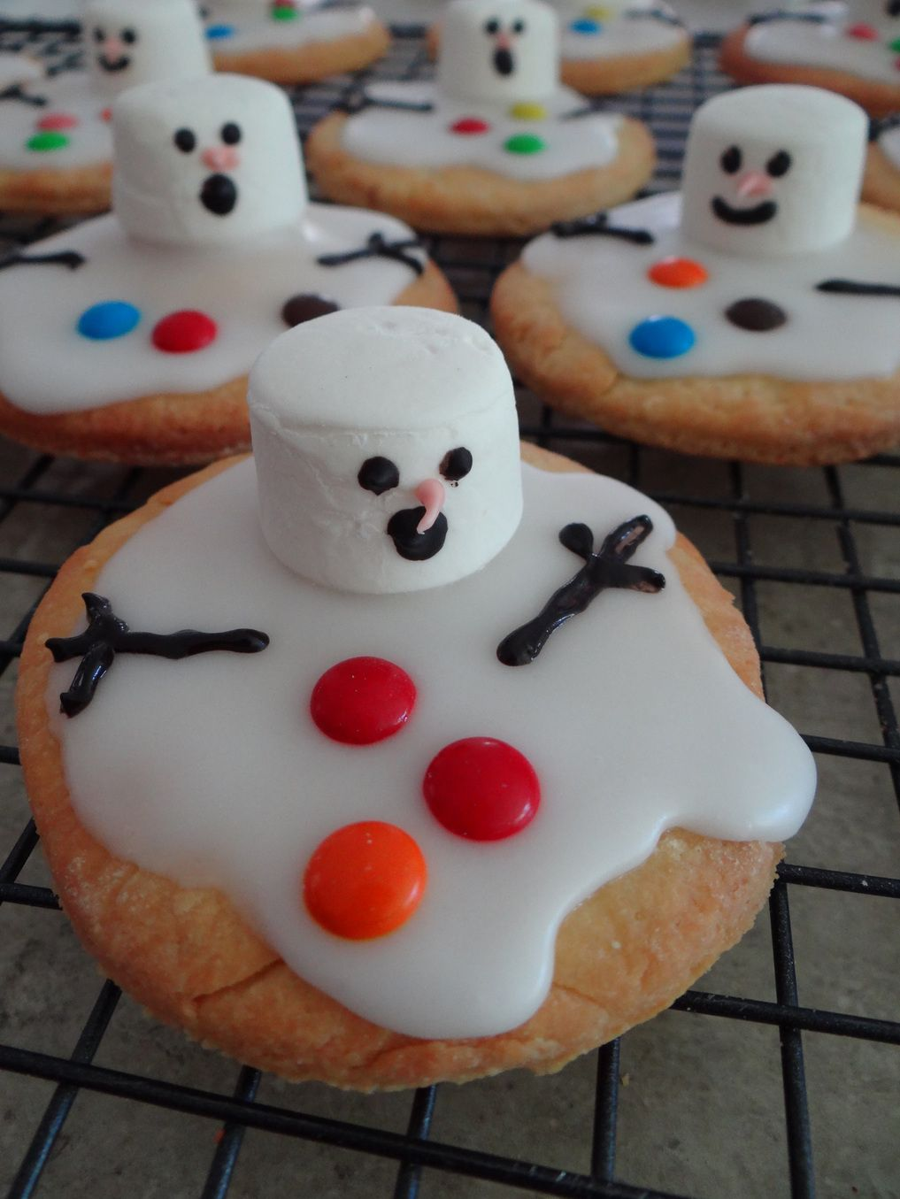 Christmas Food Ideas Melted Snowman Biscuits Christmas