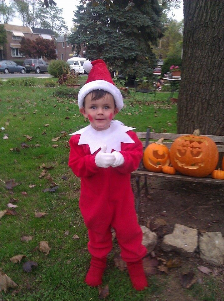 Elf on the shelf costume. Easy, but a huge hit! Red