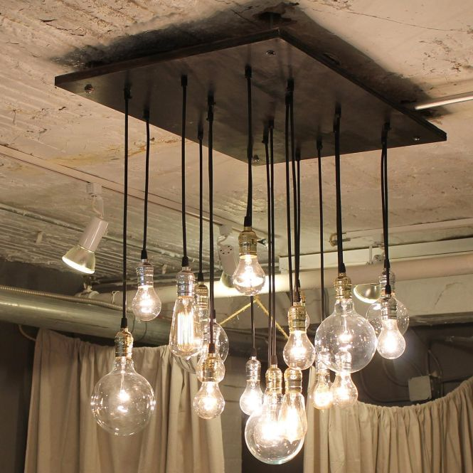 Bring Style To Your Home With This Antique Bulb And Reclaimed Wood Chandelier