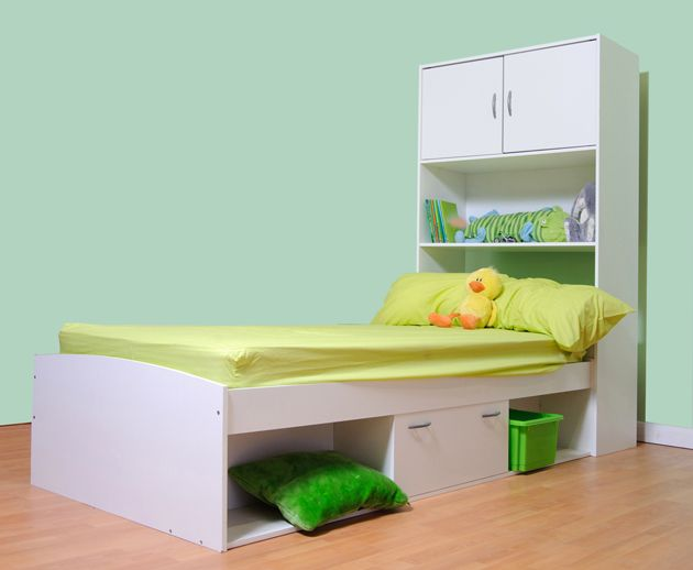Childrens Ager Cabin Bed With Wall Cabinet