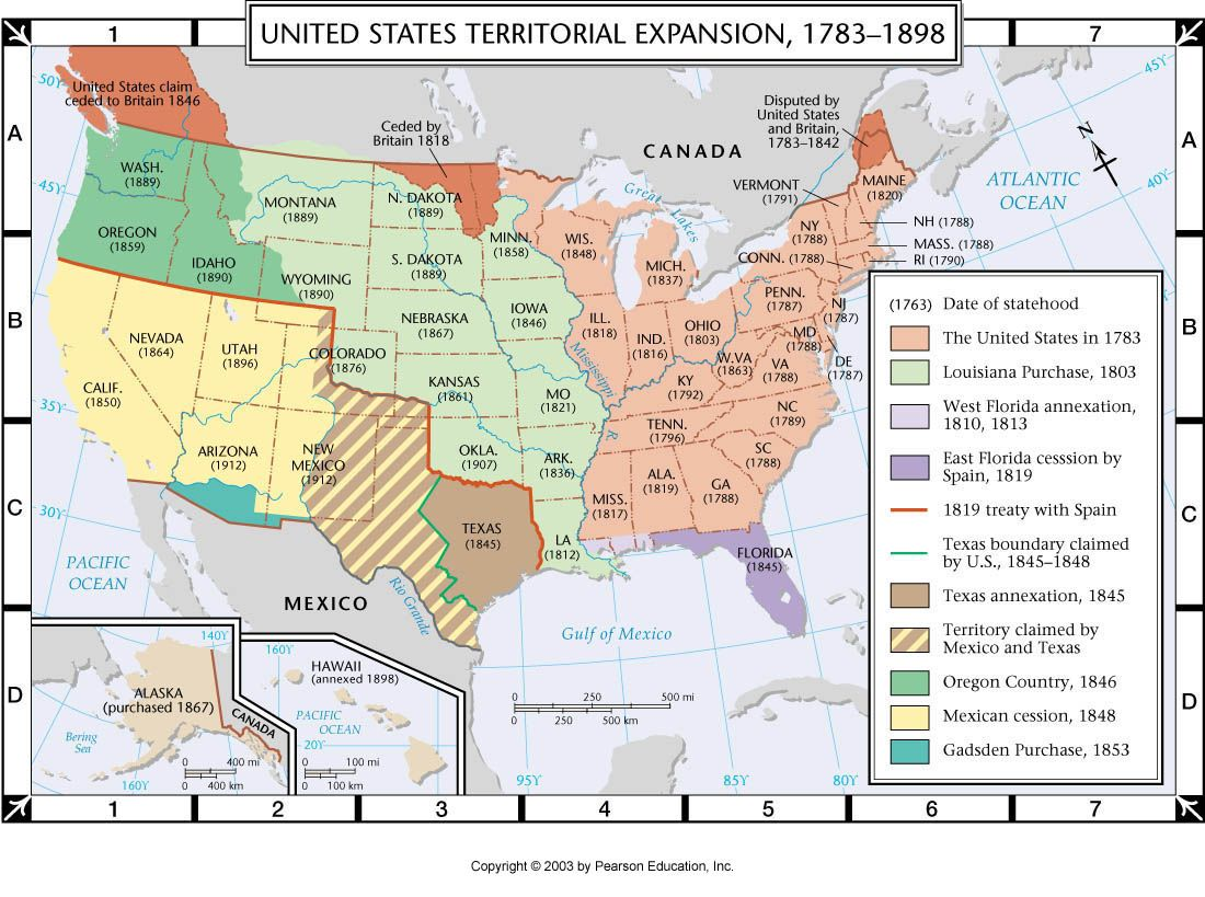The United States Of America Territorial Expansion