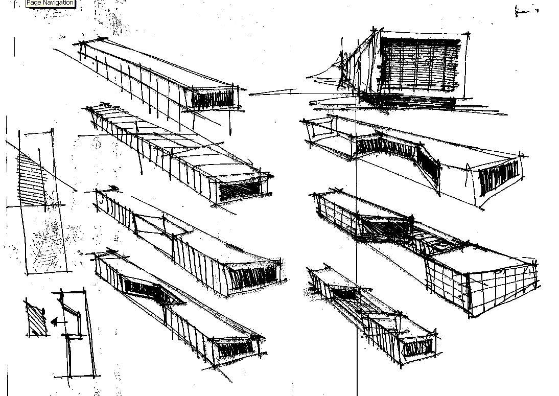 Architecture Concept Sketches