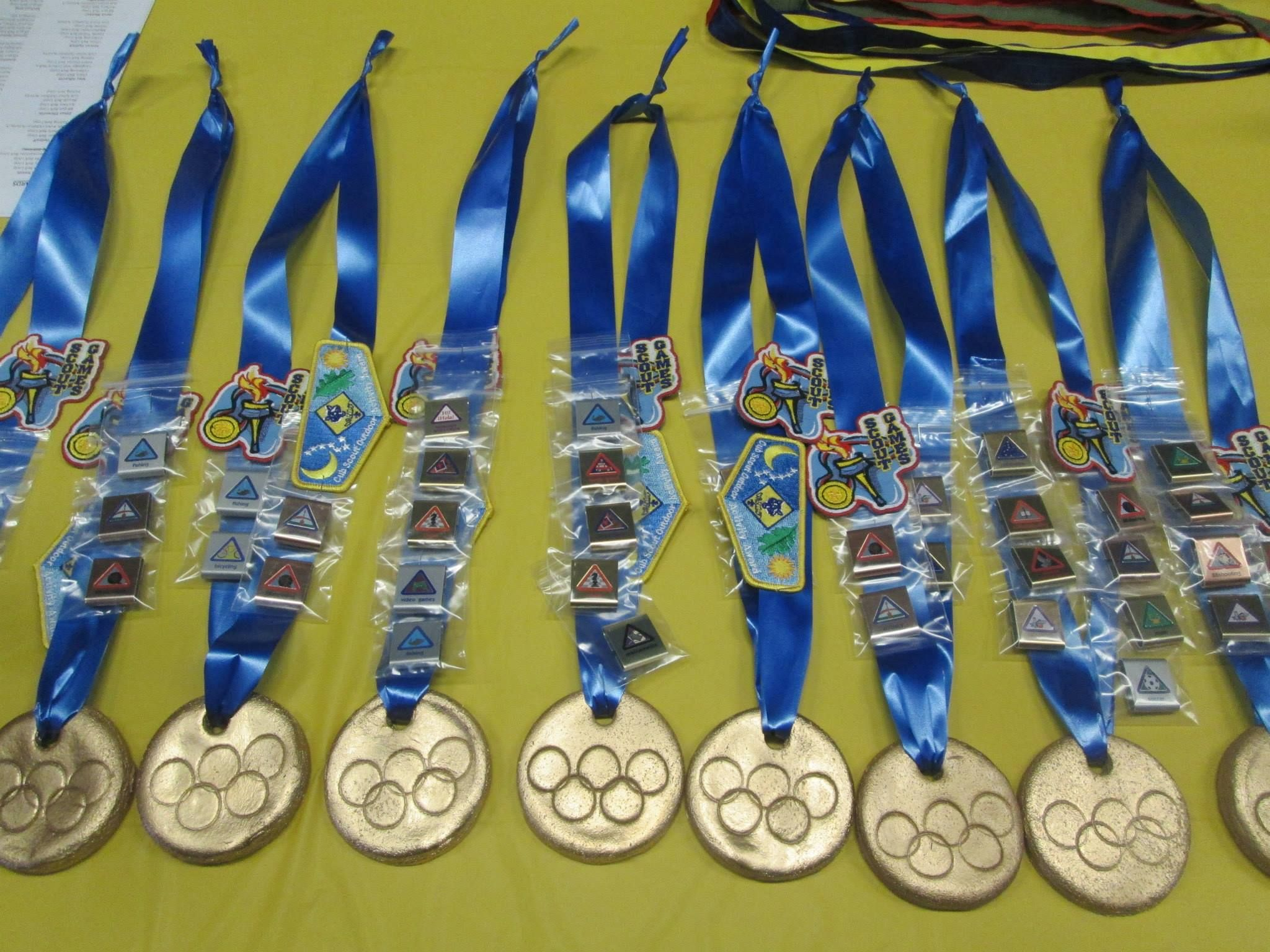Gold Medals For The Scouts After The Olympic Games Each