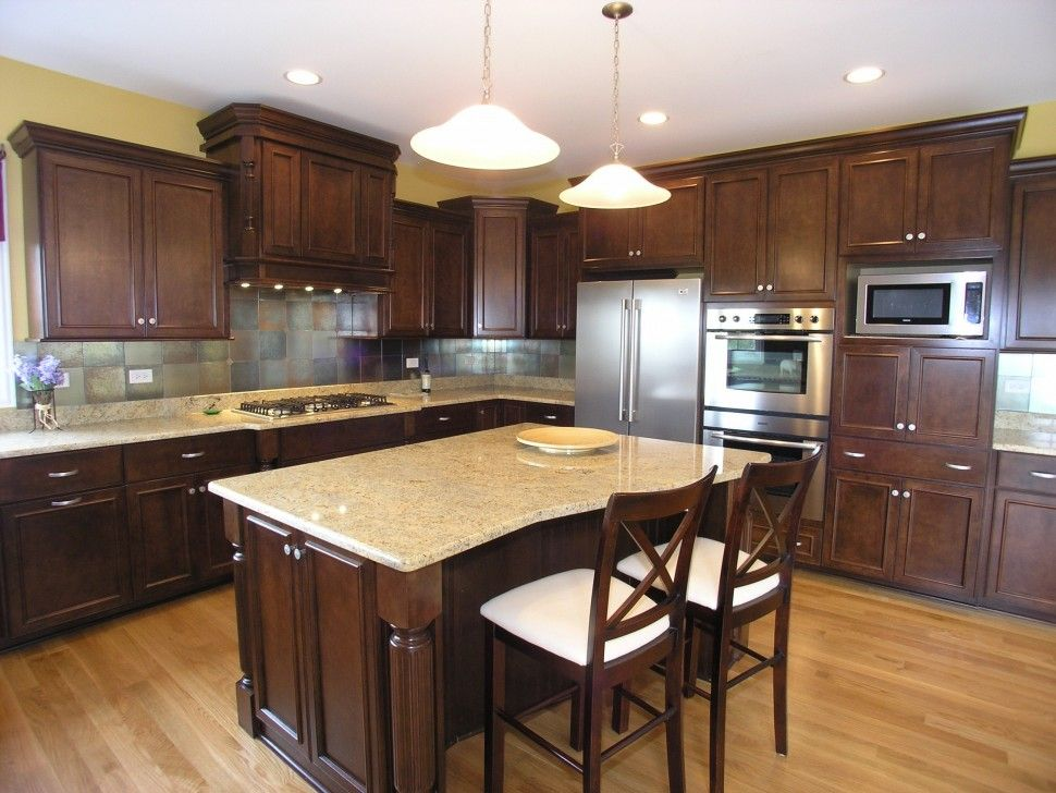 KitchenCherry Kitchen With Granite Countertops