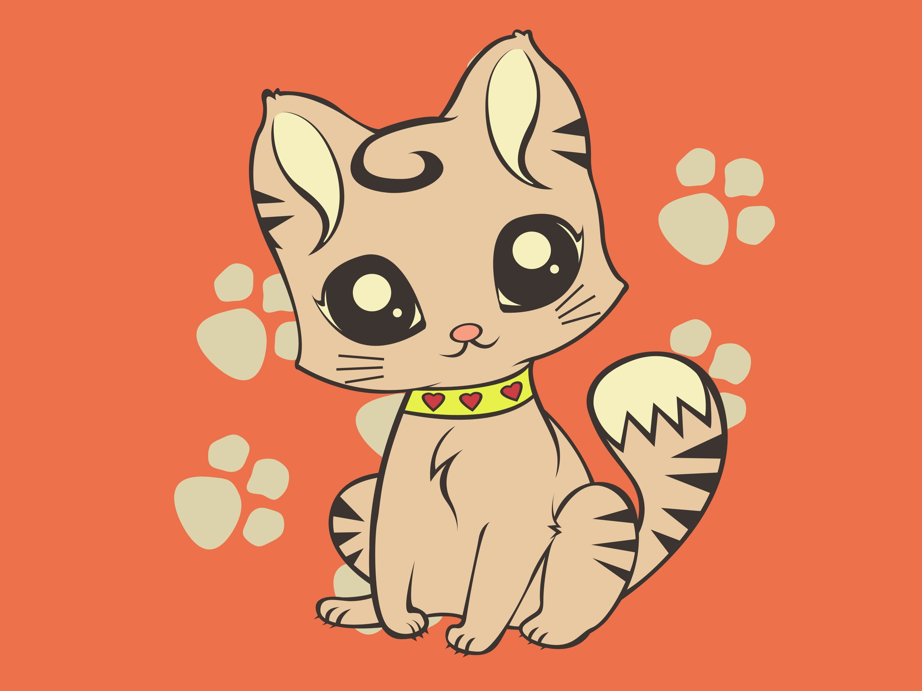 Draw a Cute Cartoon Cat Drawing drawing, Cartoon and
