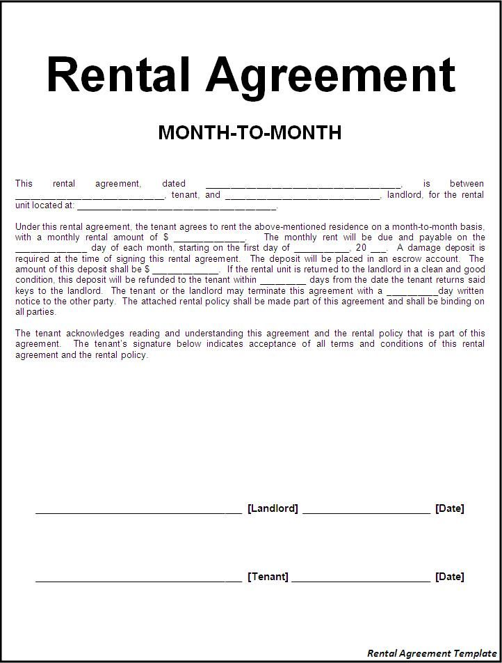 Rent Contract Template. free http webdesign14 com. commercial rent ...