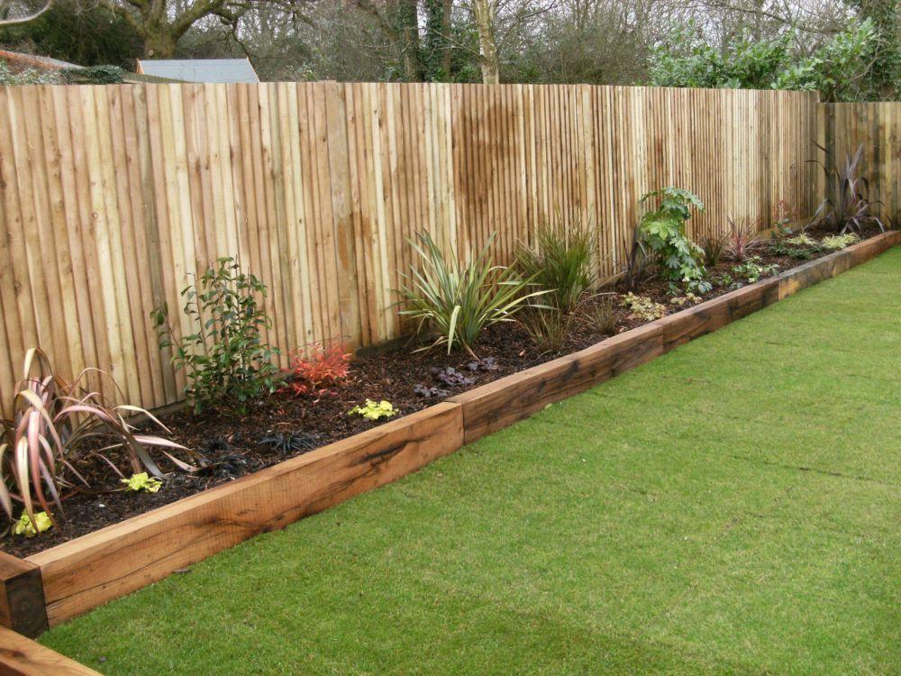 wooden sleepers garden edging Google Search Fun