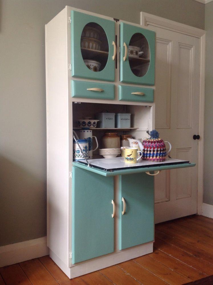 1950s Vintage Kitchen Larder Cupboard Cabinet Kitchenette Kitchen Larder Cupboard Kitchen