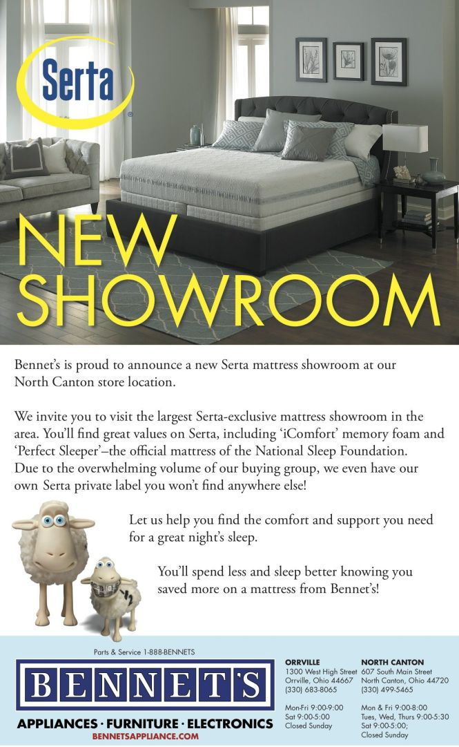 Our New Serta Exclusive Showroom Is Open At North Canton Just 2 Blocks