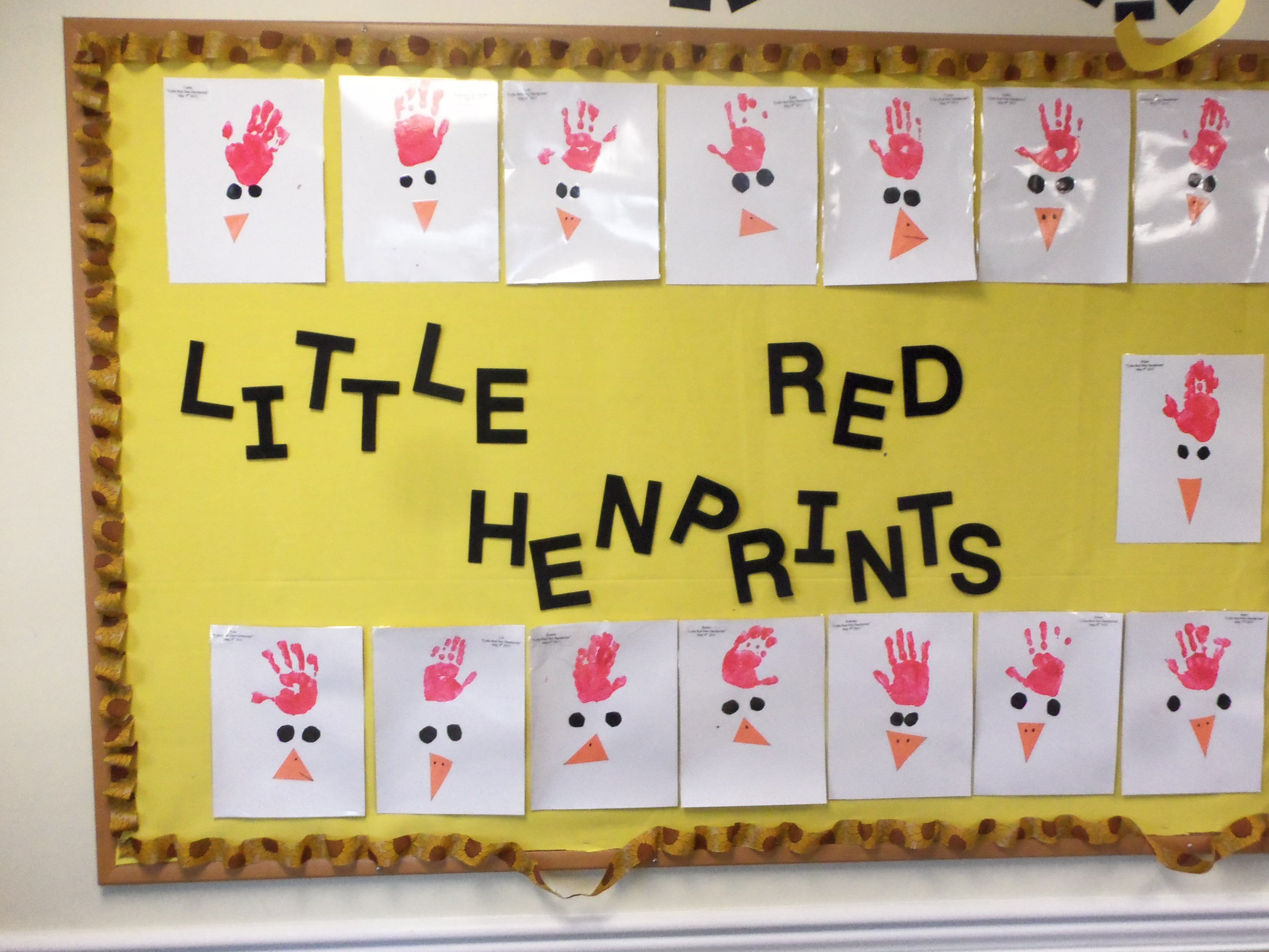 We Used The Children Hands To Create Little Red Henprints