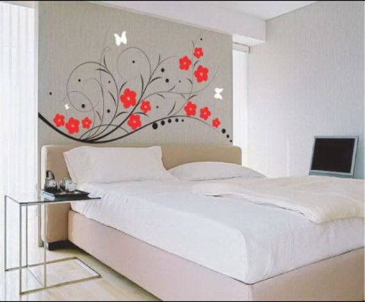 Home Designs Latest Interior Wall Paint Ideas Bedroom Painted Headboard Diy Decoration