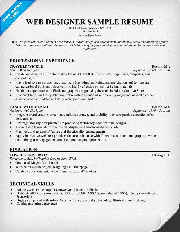 web designer resumes awesome resume templates get employed today
