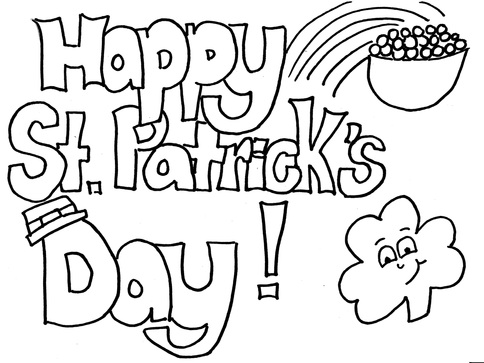 St Patrick S Day Colouring Page