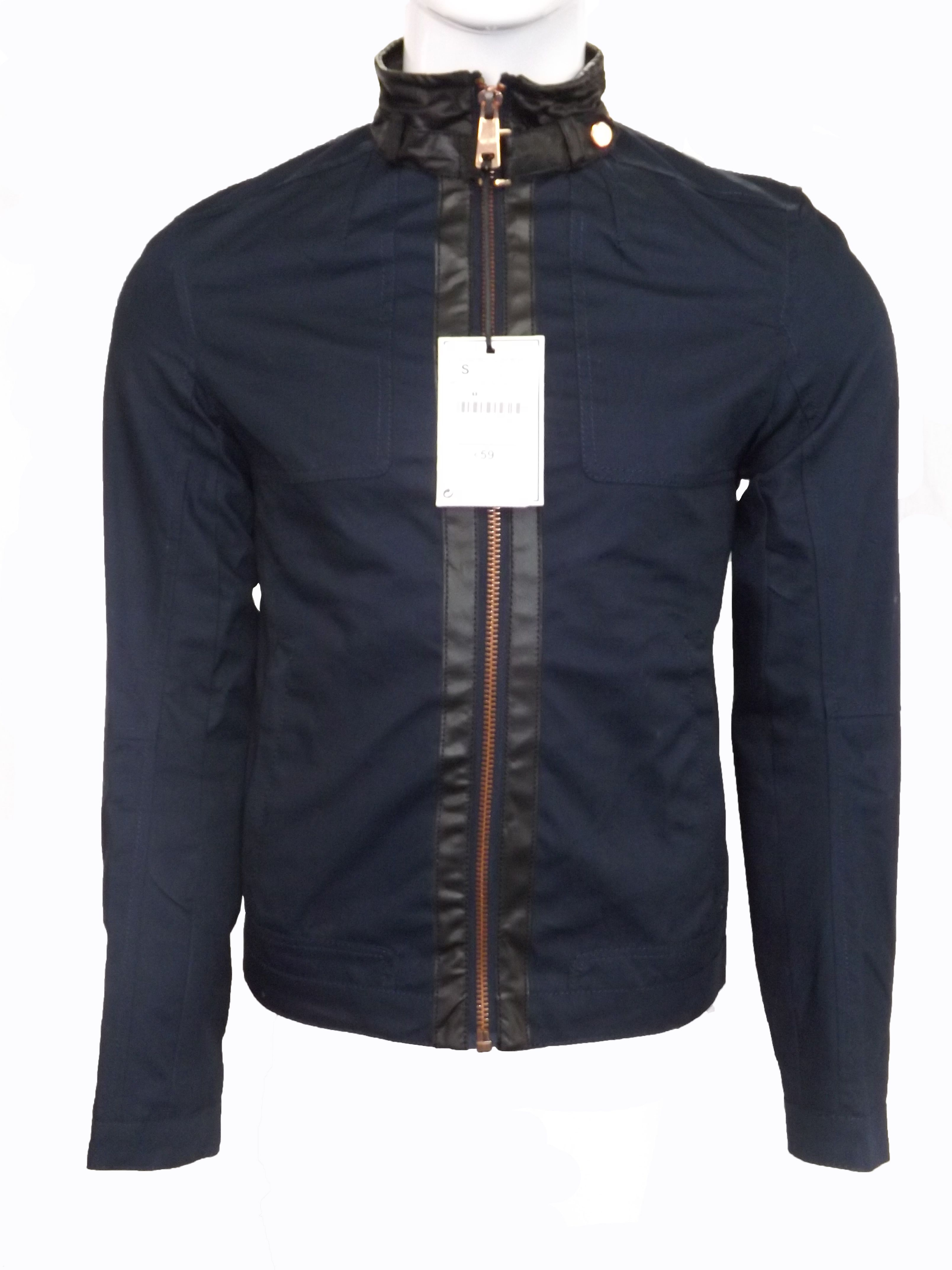 Zara Mens Denim Couture Biker Jacket. You can purchase it